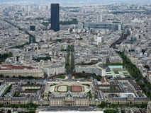 Military School and Montparnasse Tower Paris Stock Photos
