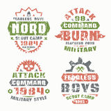 Military and scout badges Stock Photo