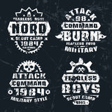 Military and scout badges Royalty Free Stock Photography