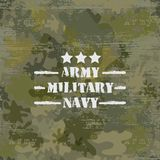 Military seamless background with text Royalty Free Stock Photos