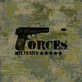 Military seamless background with text vector Royalty Free Stock Images