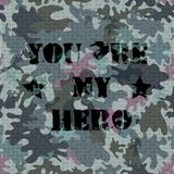 Military seamless background with text vector Royalty Free Stock Image