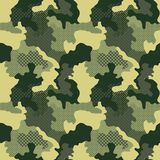 Military Seamless Pattern. Camouflage Background. Camo Fashion Texture. Army Uniform Royalty Free Stock Images