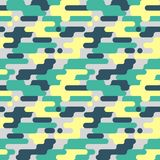 Military Seamless Pattern. Camouflage Background. Camo Fashion Texture. Army Uniform. Vector illustration Royalty Free Stock Image
