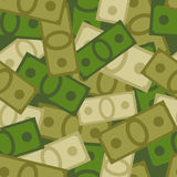 Military seamless pattern of money. Soldiers background from Dol Royalty Free Stock Images