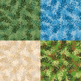 Military seamless pattern. Set army texture. Protective ornament Royalty Free Stock Image