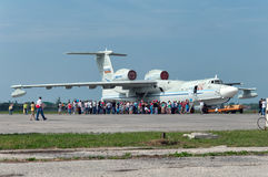 A-42 military seaplane. Taganrog, Russia, May 18, 2013. The experimental aircraft was not mass-produced Stock Photography