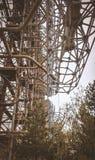 Military secret object antenna radar Doug in Chernobyl Ukraine stock images