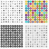 100 military service icons set vector variant. 100 military service icons set vector in 4 variant for any web design isolated on white royalty free illustration