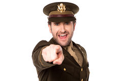 Military serviceman pointing you out Royalty Free Stock Photo