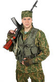 Military serviceman portrait. Stock Image