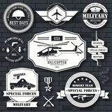 Military set label template of emblem element for your product or design, logo, element, web and mobile applications Stock Image