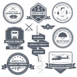 Military set label template of emblem element for Royalty Free Stock Image