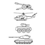 Military set Stock Images