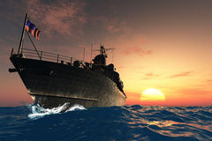 The military ship Stock Photos