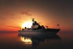 The military ship Stock Photos