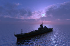 The military ship Royalty Free Stock Image