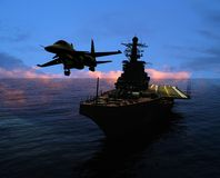 The military ship Royalty Free Stock Photography