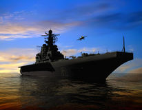 The military ship Royalty Free Stock Photo