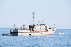 Military ship Stock Image