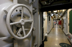 Military ship interior Stock Photos