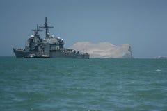 Military ship in Peru Royalty Free Stock Photos