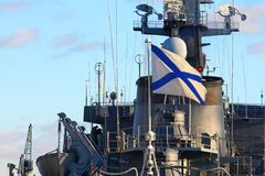 Military ship of Russia Royalty Free Stock Photo