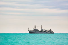 Military Ship in the Sea Stock Images