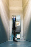 Military ship telephone communication. Royalty Free Stock Images