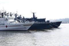 Military ships Stock Photos
