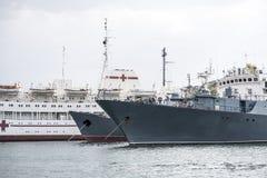 Military ships berth Royalty Free Stock Photo