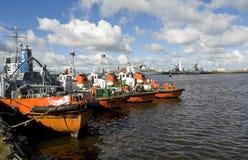 Military ships, Kronshtadt Royalty Free Stock Image