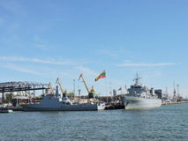 Military ships, Lithuania Stock Images