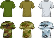 Military Shirts. A variety of military and camouflage shirts Stock Images