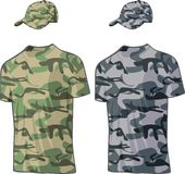 Military Shirts and caps templates. Vector Royalty Free Stock Image