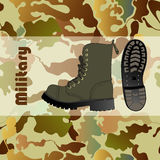 Military shoe Royalty Free Stock Photo