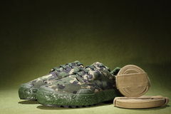 Military Shoes Stock Photography