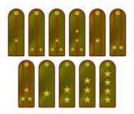 Military shoulder straps Stock Images