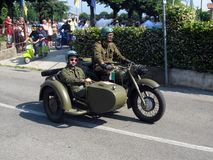 Military sidecar Royalty Free Stock Images