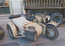 Military sidecar motorcycle BMW R75 Stock Photo
