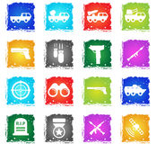 Military simply icons Royalty Free Stock Image