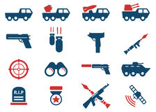 Military simply icons Royalty Free Stock Photo