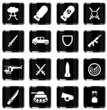 Military simply icons Stock Images