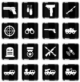 Military simply icons Stock Photos