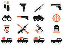 Military simply icons Royalty Free Stock Images