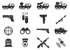 Military simply icons Royalty Free Stock Photography