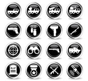 Military simply icons Stock Image