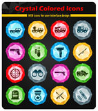 Military simply icons Stock Photo