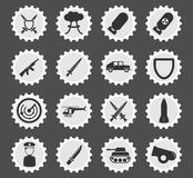 Military simply icons. Military simply symbol for web icons and user interface Royalty Free Stock Photography