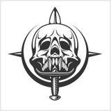 Military Skull - Chevron with daggers Stock Photos